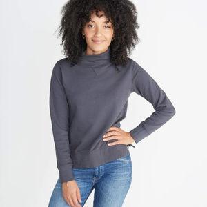 "Marine Layer ""Evie"" Funnel Neck Sweatshirt Large"